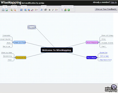 wisemappingcom recently launched a new web based mind mapping application which is currently undergoing beta testing a quick look at the demo workspace - Web Based Mind Mapping Free